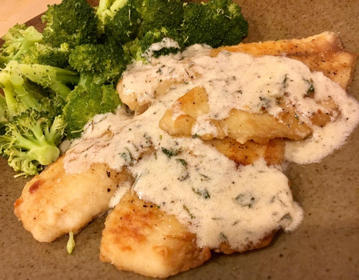 Cream sauce for tilapia fish men day program for Sauce for fish
